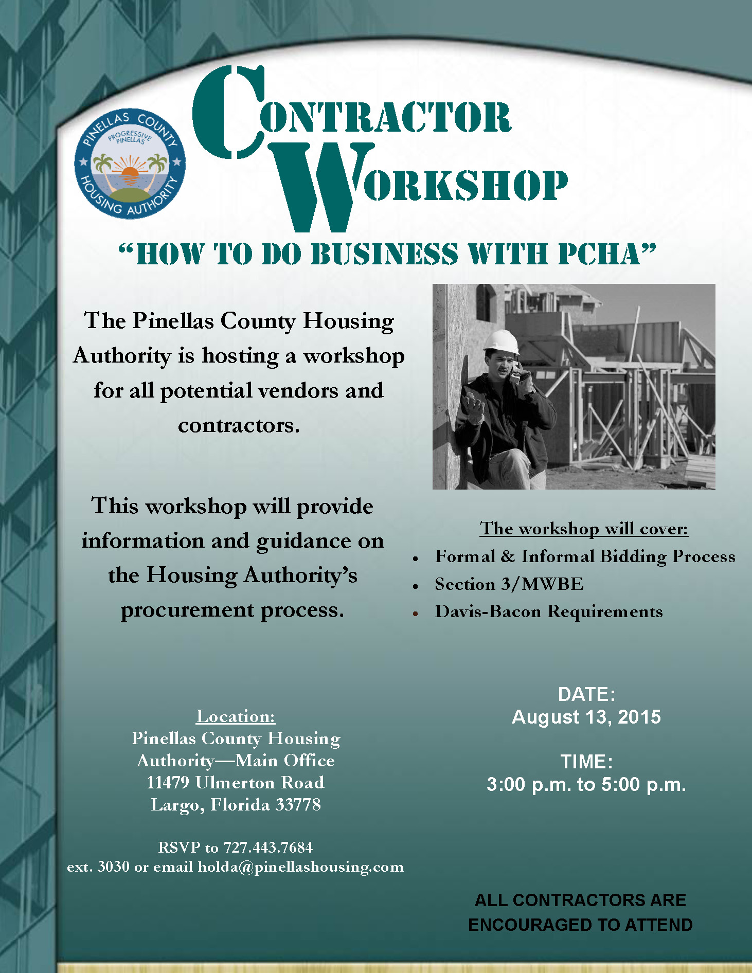 Contractor workshop  8.13.15