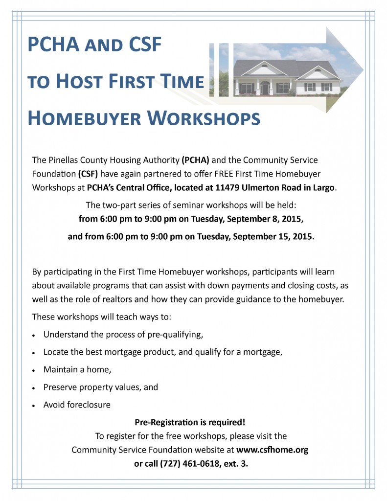 Homebuyer Workshop Flyer