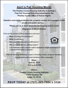 fair housing workshop flyer