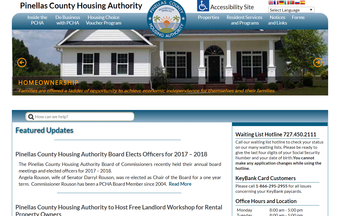 Pinellas Housing Authority Launches New Accessible Website!Pinellas ...