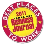 Tampa Bay Business Journal Best Places To Work 2011!