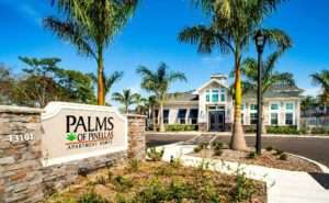 Photo of front entrance of the Palms of PinellasApartments